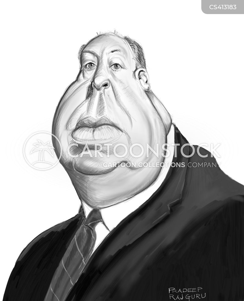 alfred hitchcock cartoon