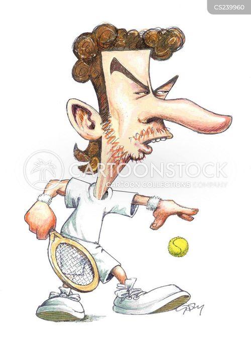 tennis pros cartoon