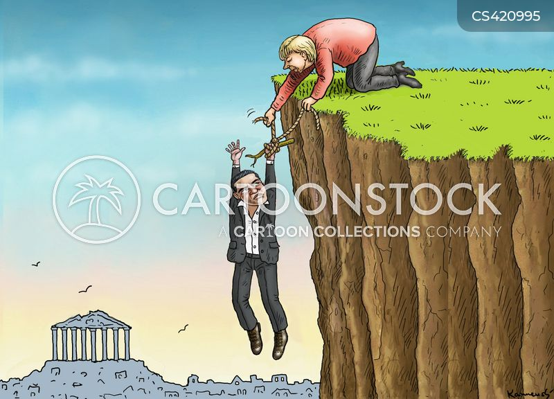 greek debts cartoon