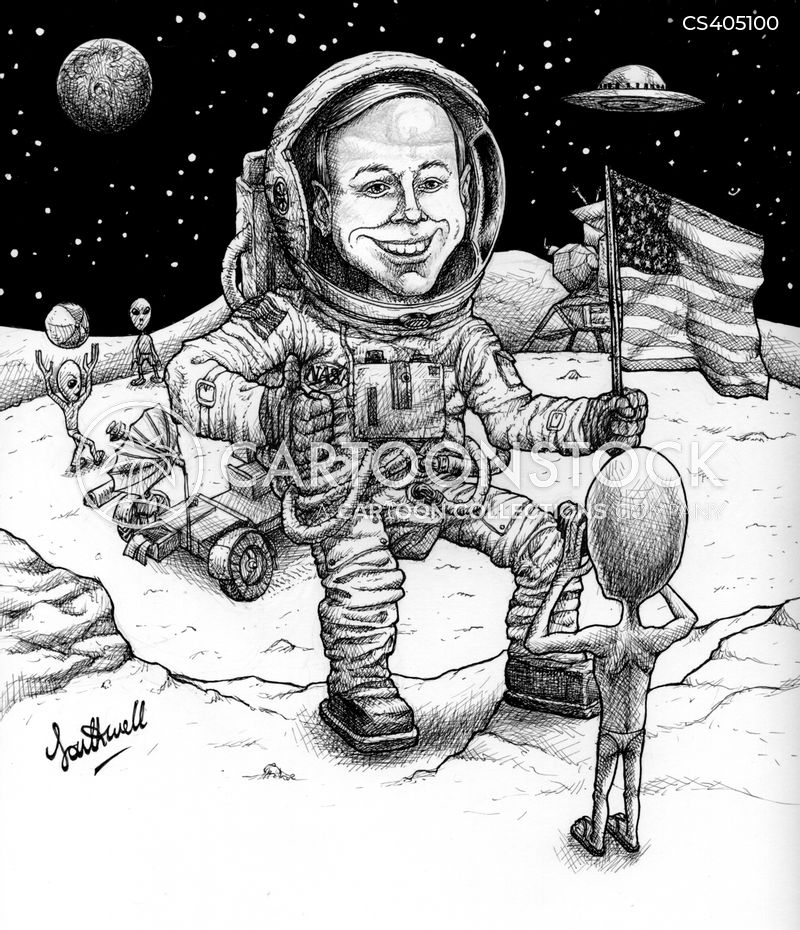 lunar landings cartoon