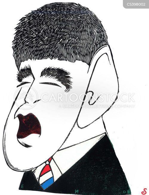 television host cartoon