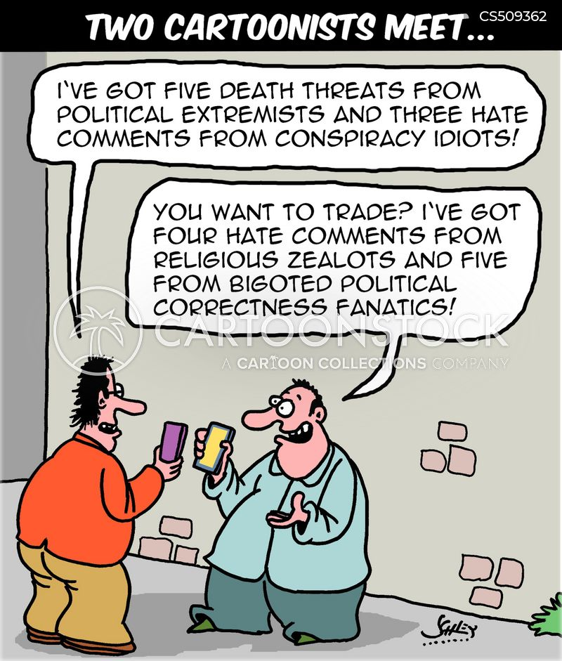 taking offence cartoon