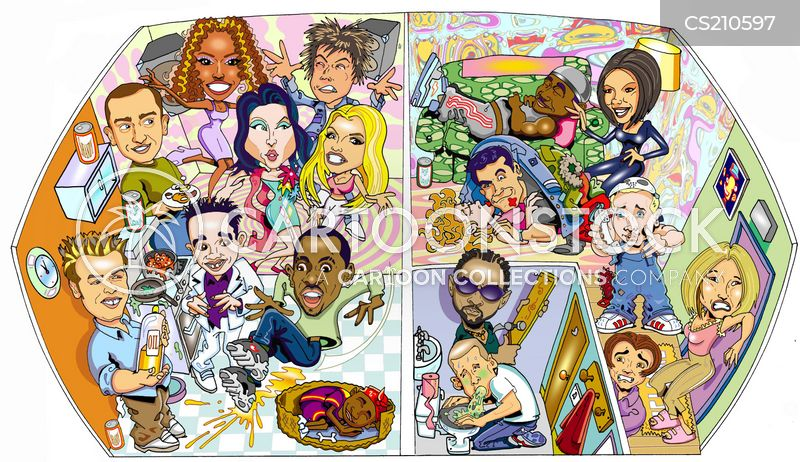 celebrity house cartoon