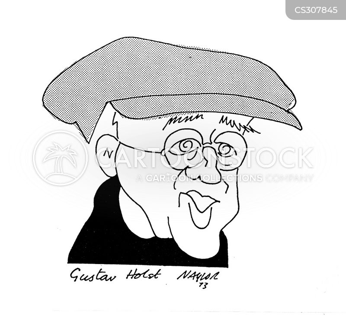 english composer cartoon