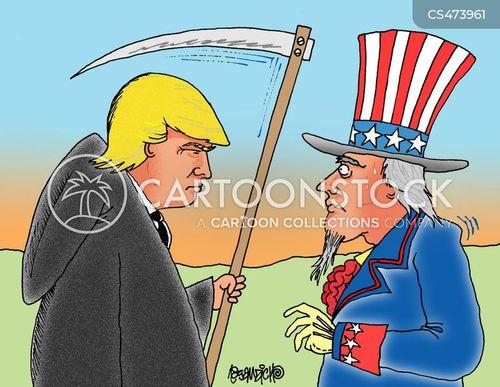 trump policy cartoon
