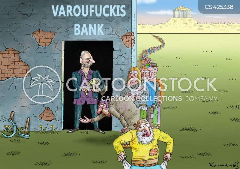 banking controls cartoon