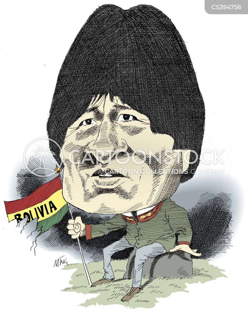 Image result for PRESIDENT OF BOLIVIA CARTOON