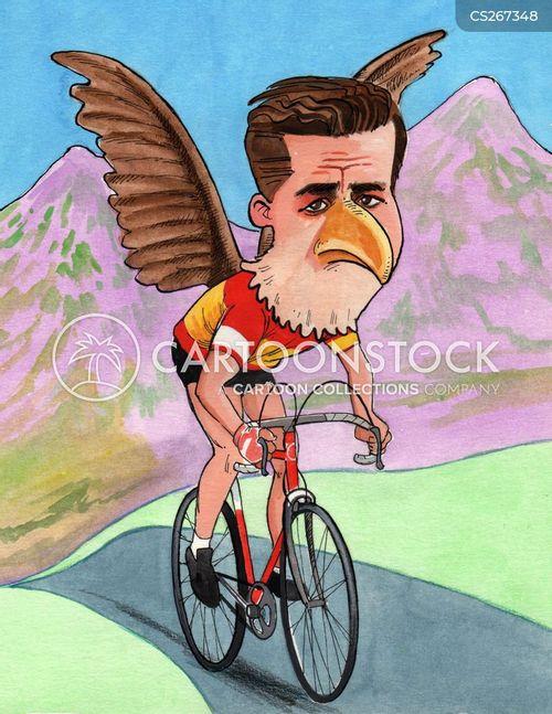 bike race cartoon