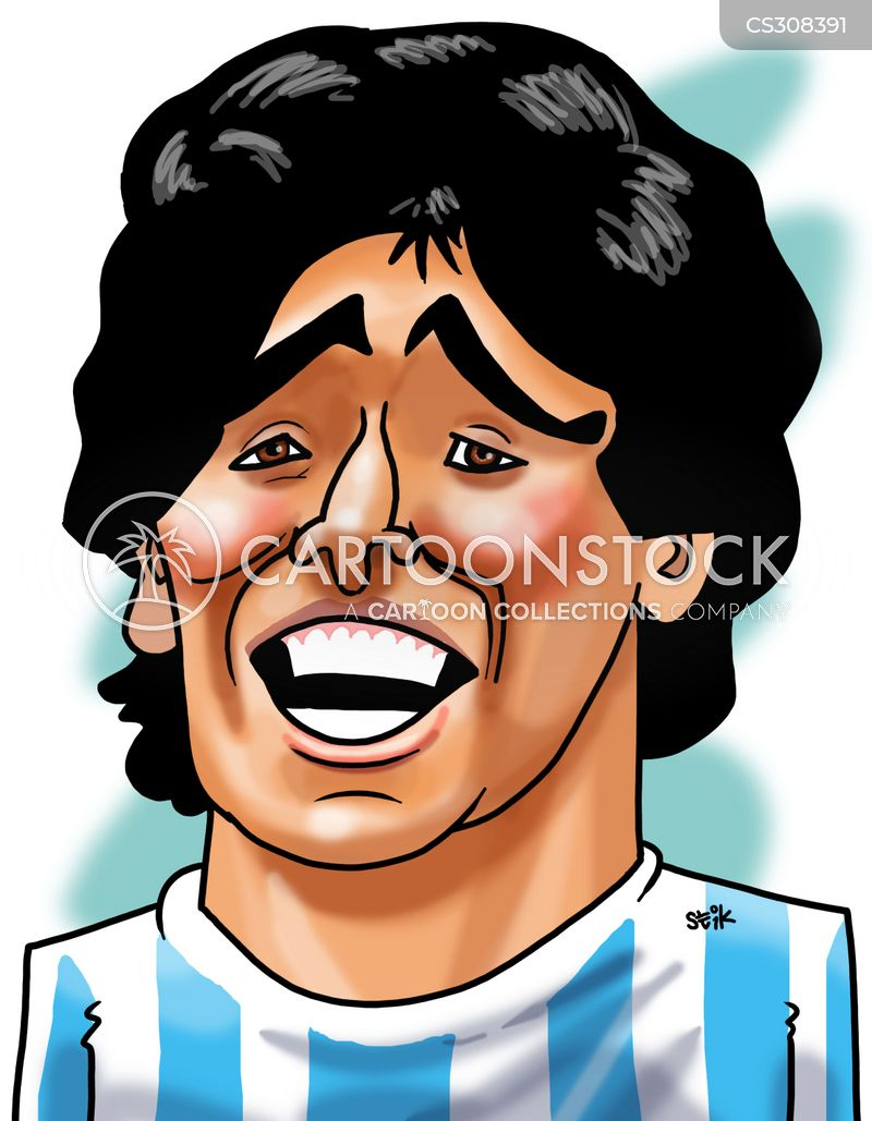 footballer players cartoon