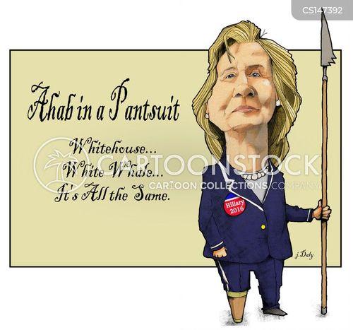 presidential race cartoon