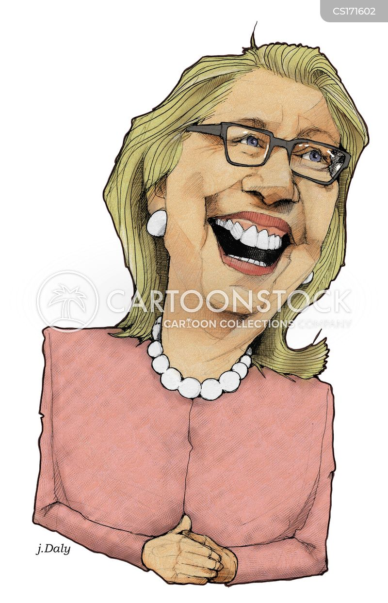senator hillary clinton cartoon