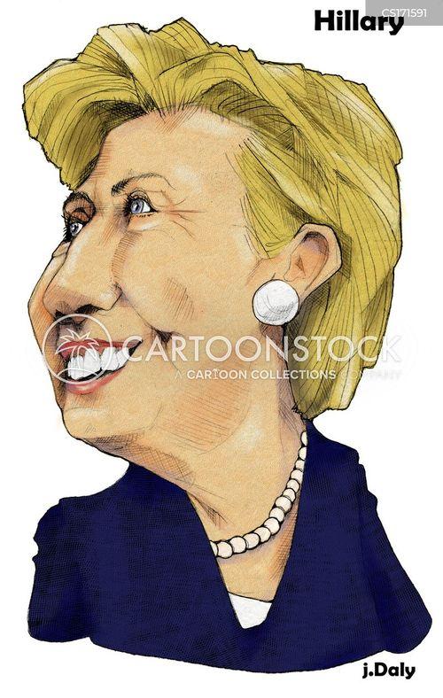 first lady cartoon
