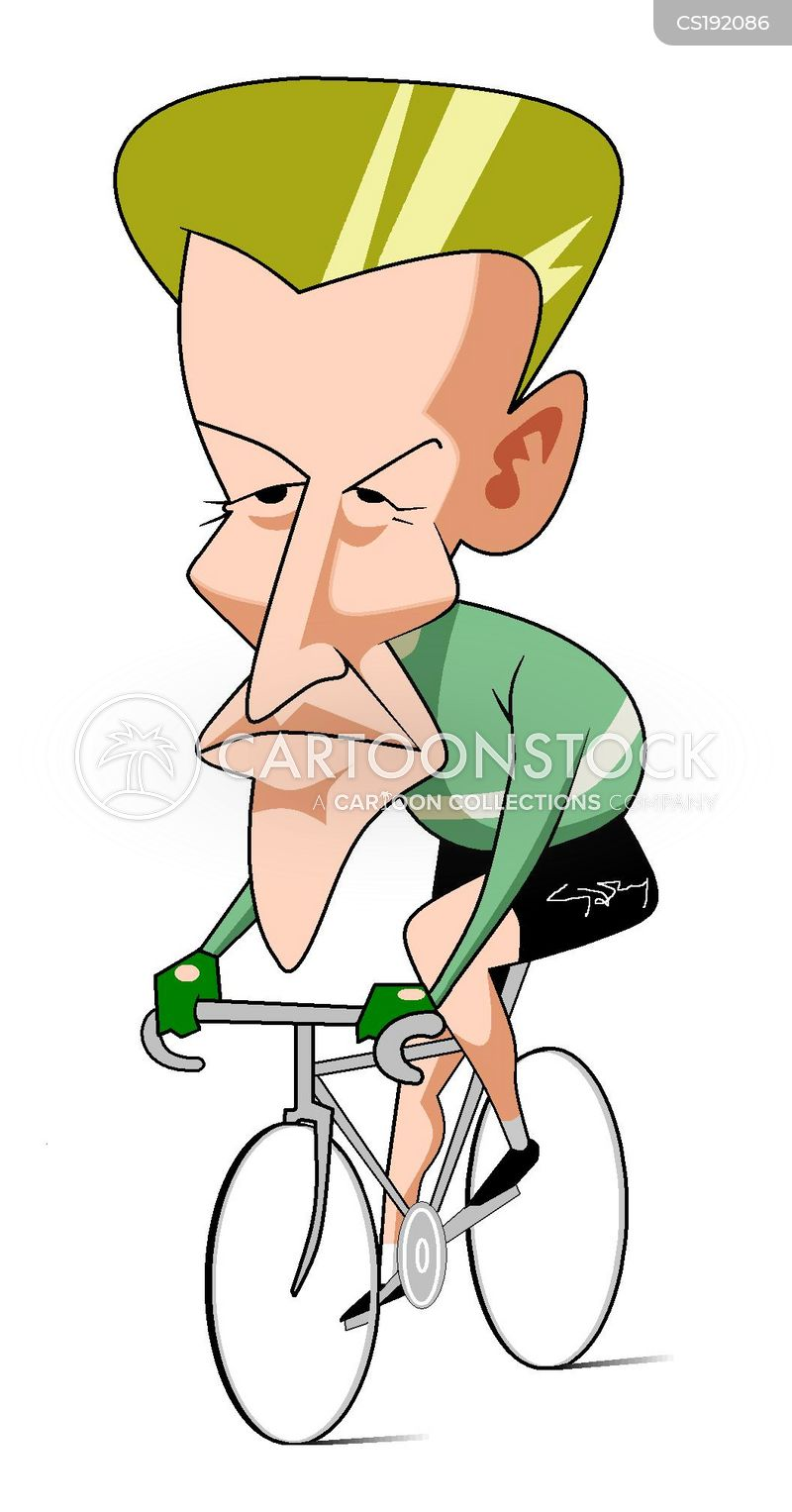 tour de france cartoon