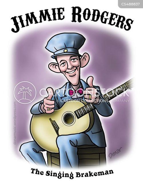 country musicians cartoon