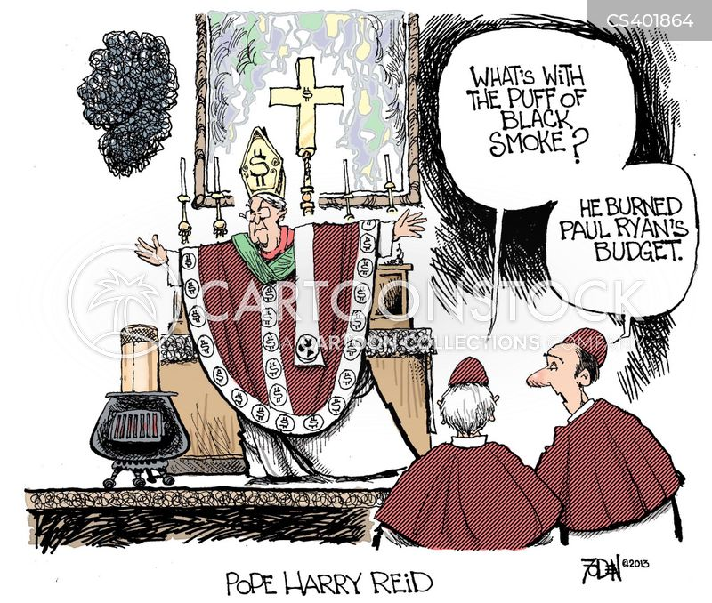 papal election cartoon