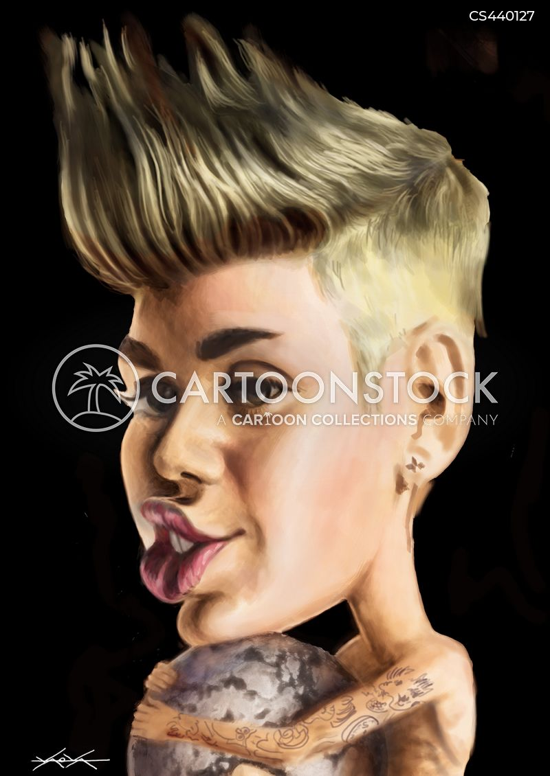 justin bieber cartoon