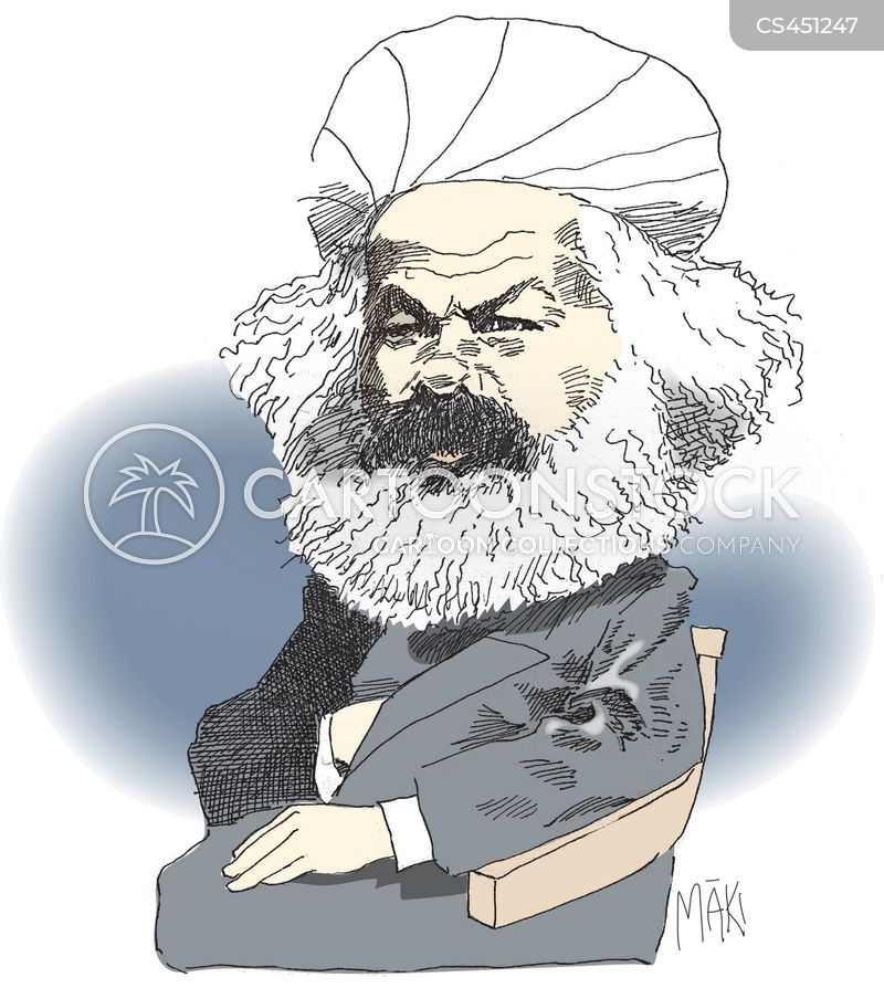 karl marx cartoon