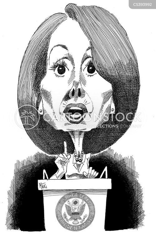 first female speaker cartoon