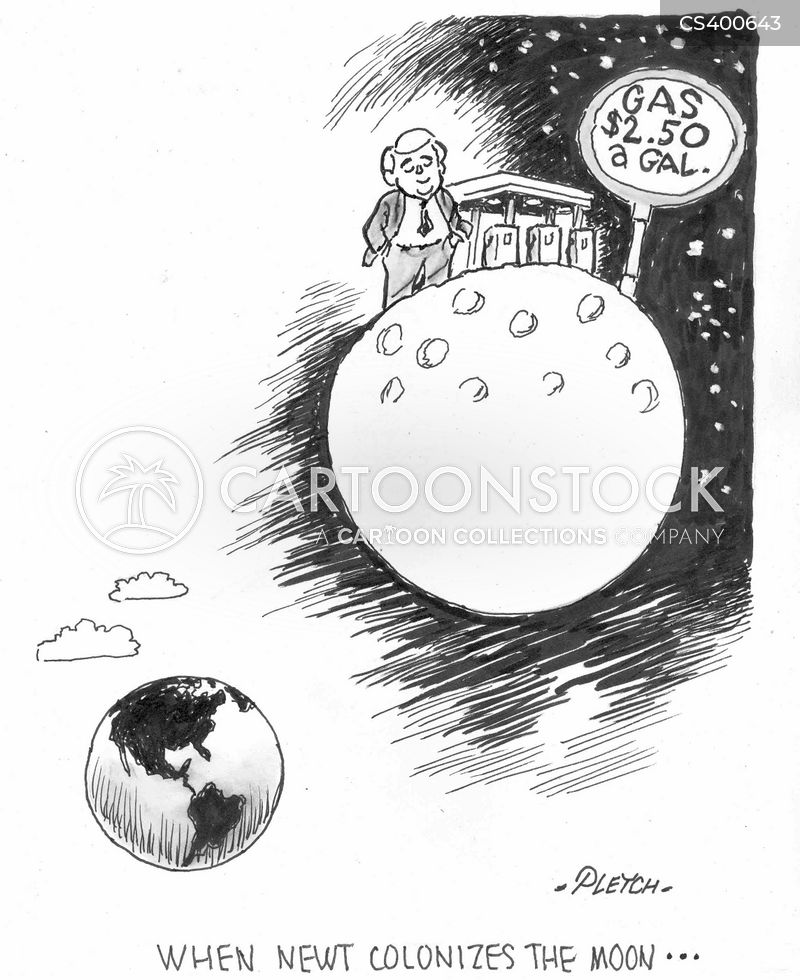 moon colony cartoon