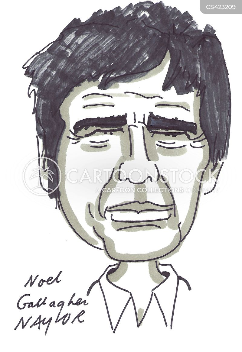 noel gallagher cartoon