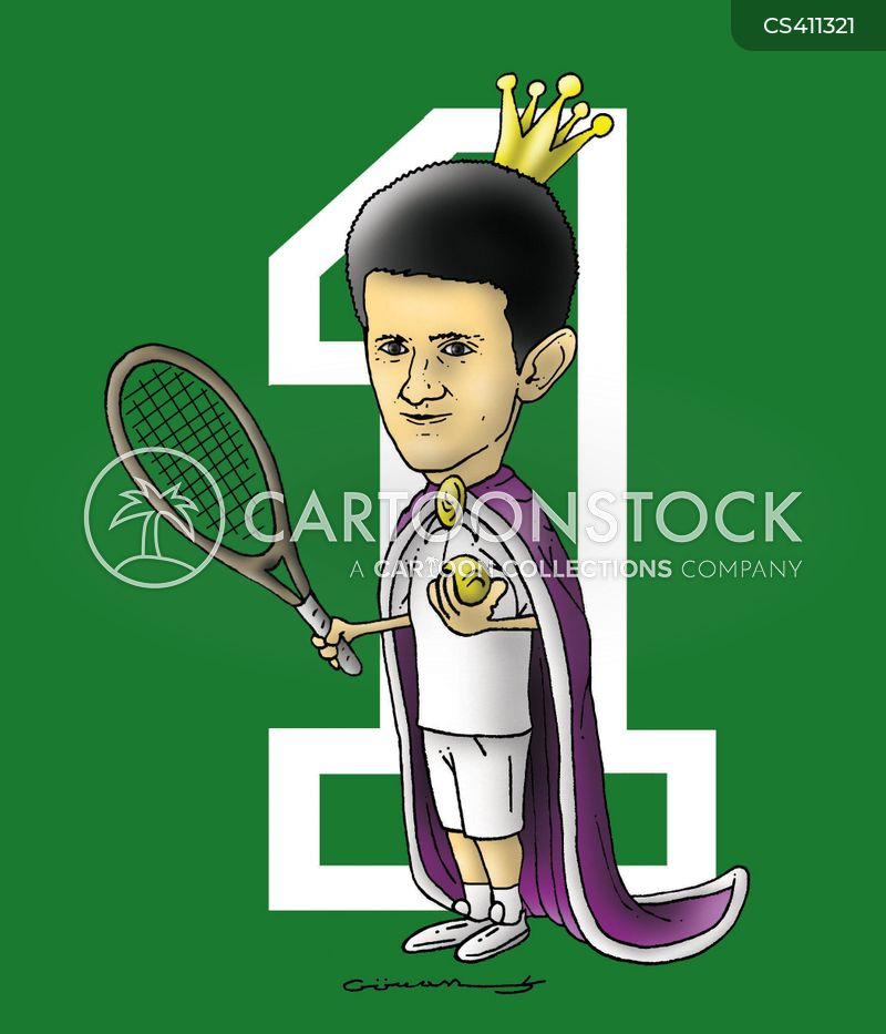 Novak Djokovic Cartoons And Comics Funny Pictures From Cartoonstock