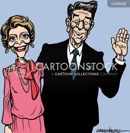 nancy reagan cartoon