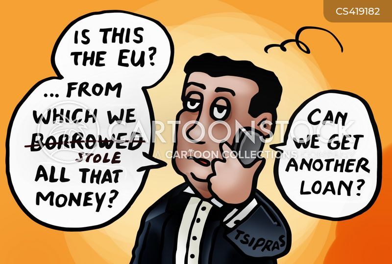 greek loans cartoon