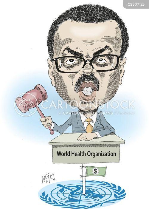 world health organization cartoon