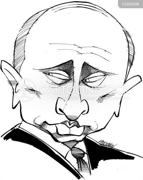russian politician cartoon