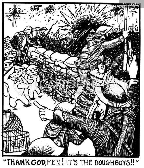 allied army cartoon