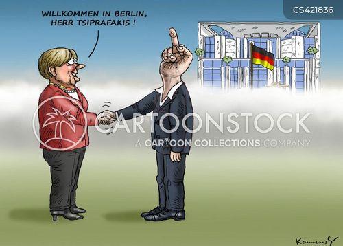 german-greek relations cartoon