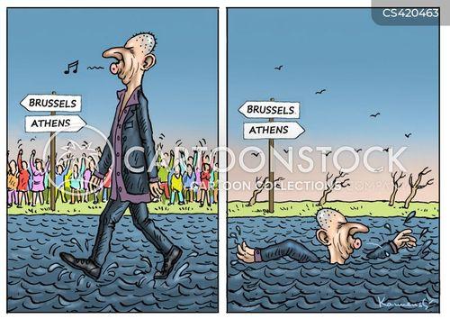 greek debt cartoon