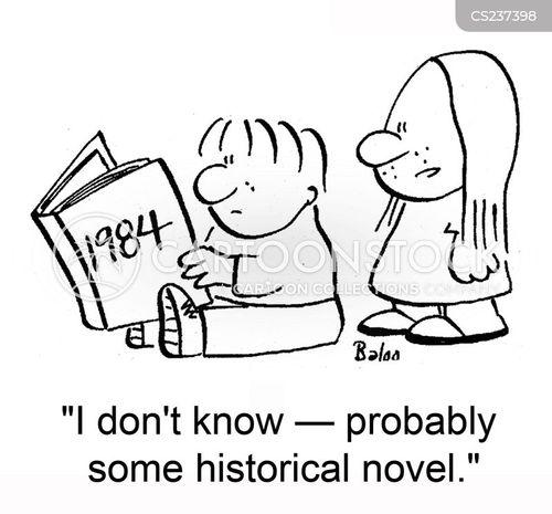historical novels cartoon