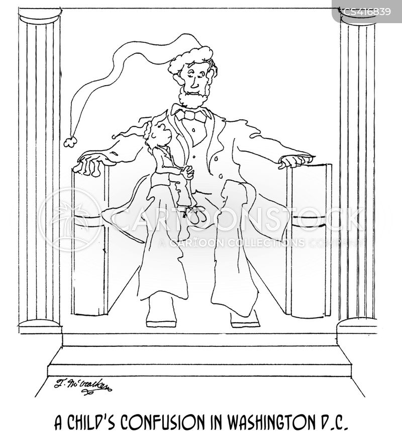 lincoln memorial cartoon