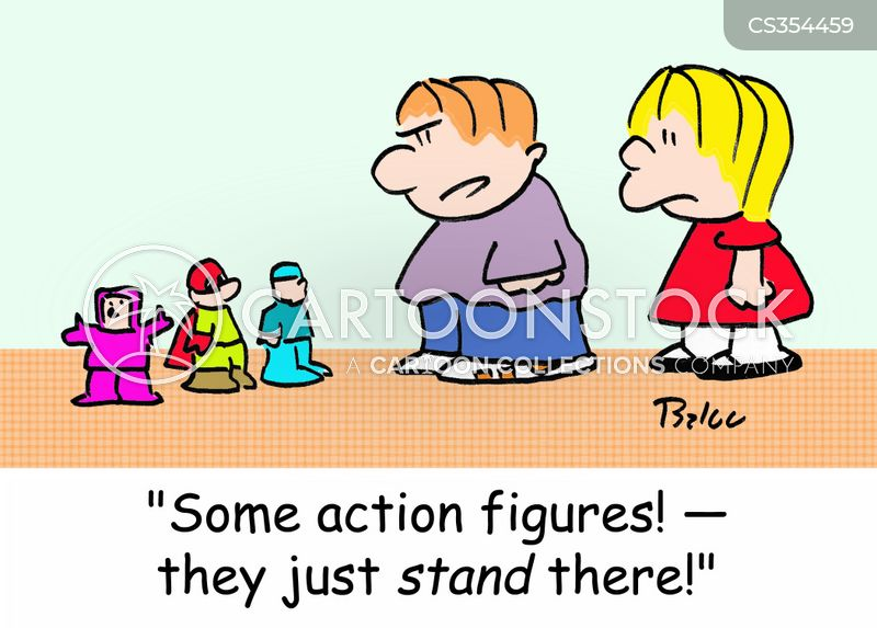 action doll cartoon