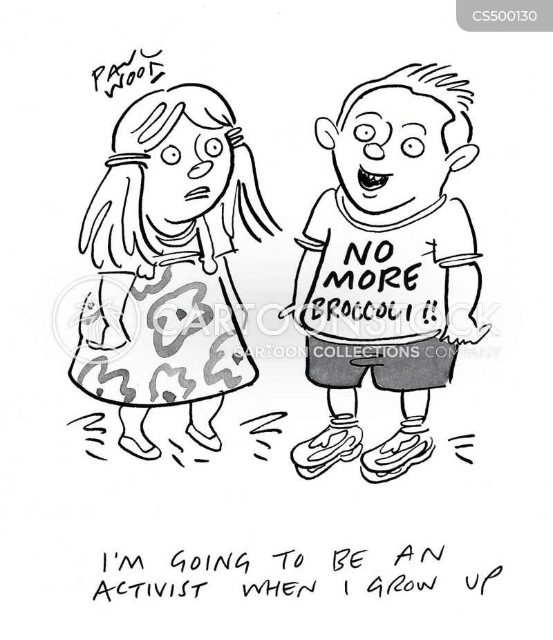 political activism cartoon