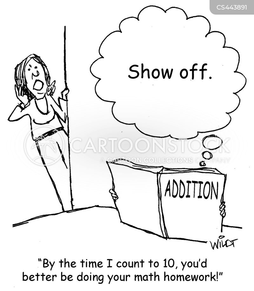 maths assignment cartoon