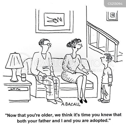 adoptive family cartoon