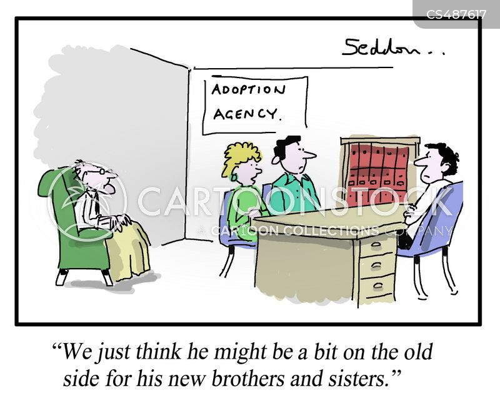 adoption agency cartoon