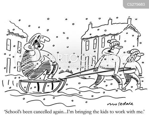 sledging cartoon