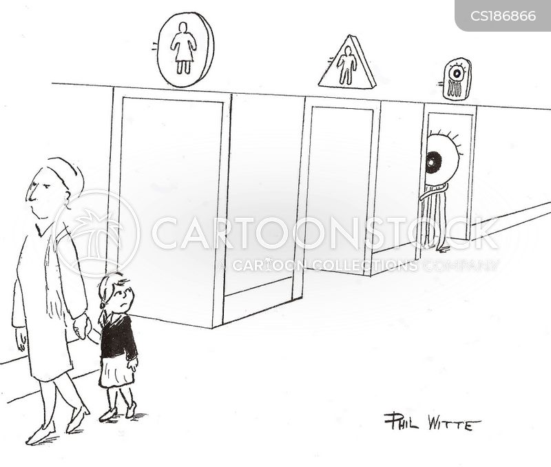 public toilets cartoon