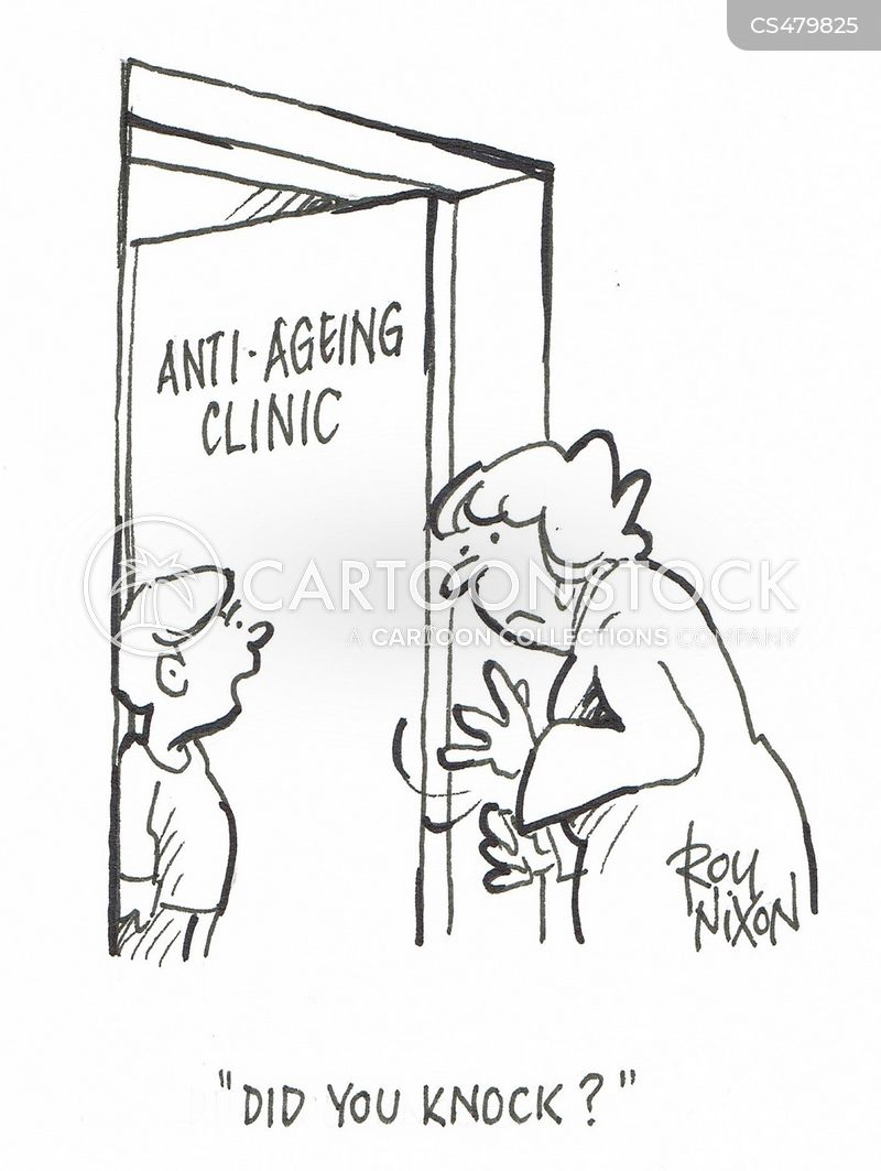 anti-aging clinics cartoon