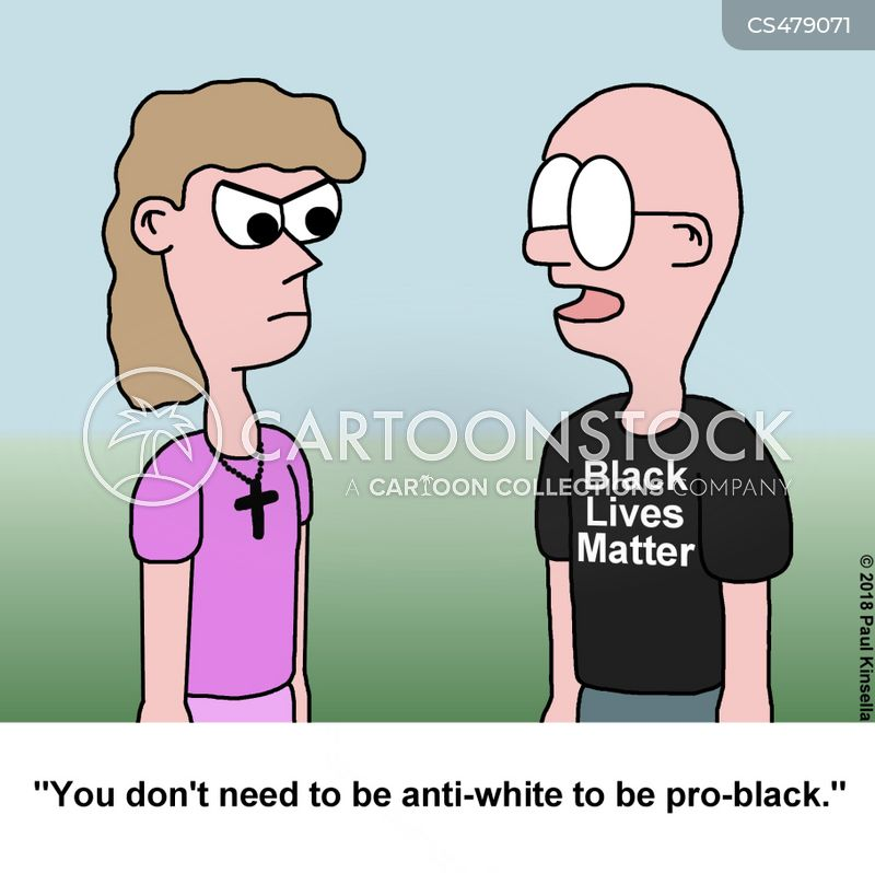 racial inequality cartoon