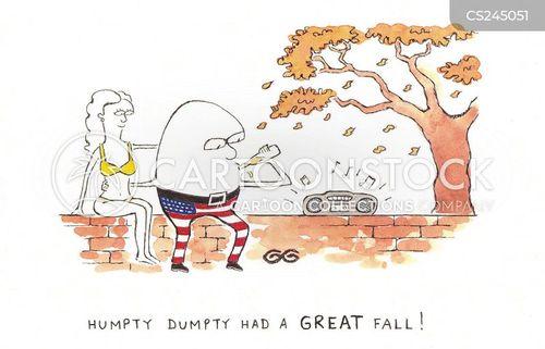 humpty dumpty had a great fall cartoon