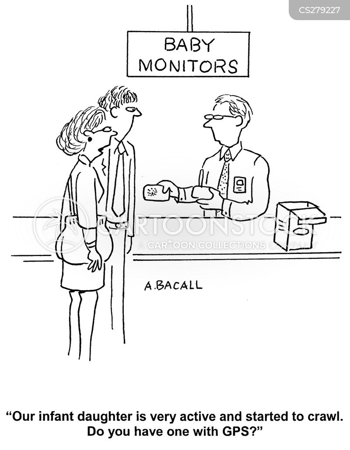 baby monitor cartoon