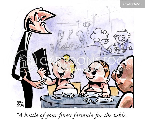 baby formulas cartoon