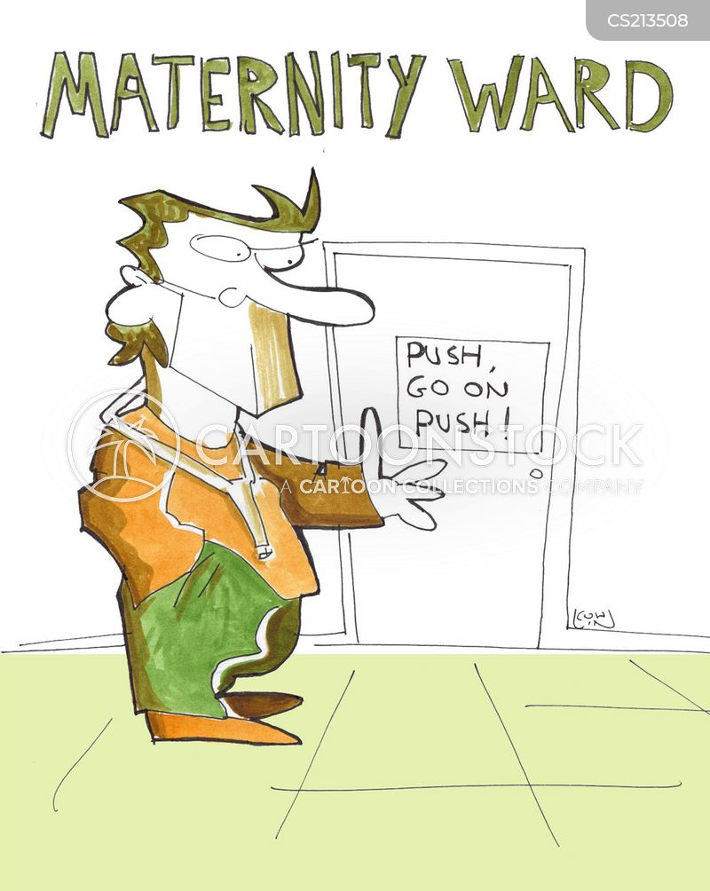 in labor cartoon