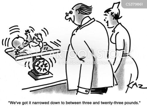 weighing in cartoon