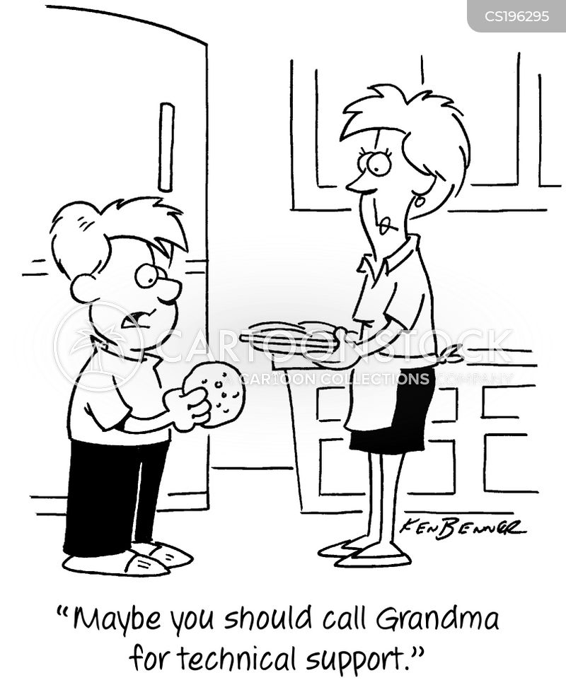 home baking cartoon