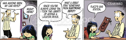 locator devices cartoon